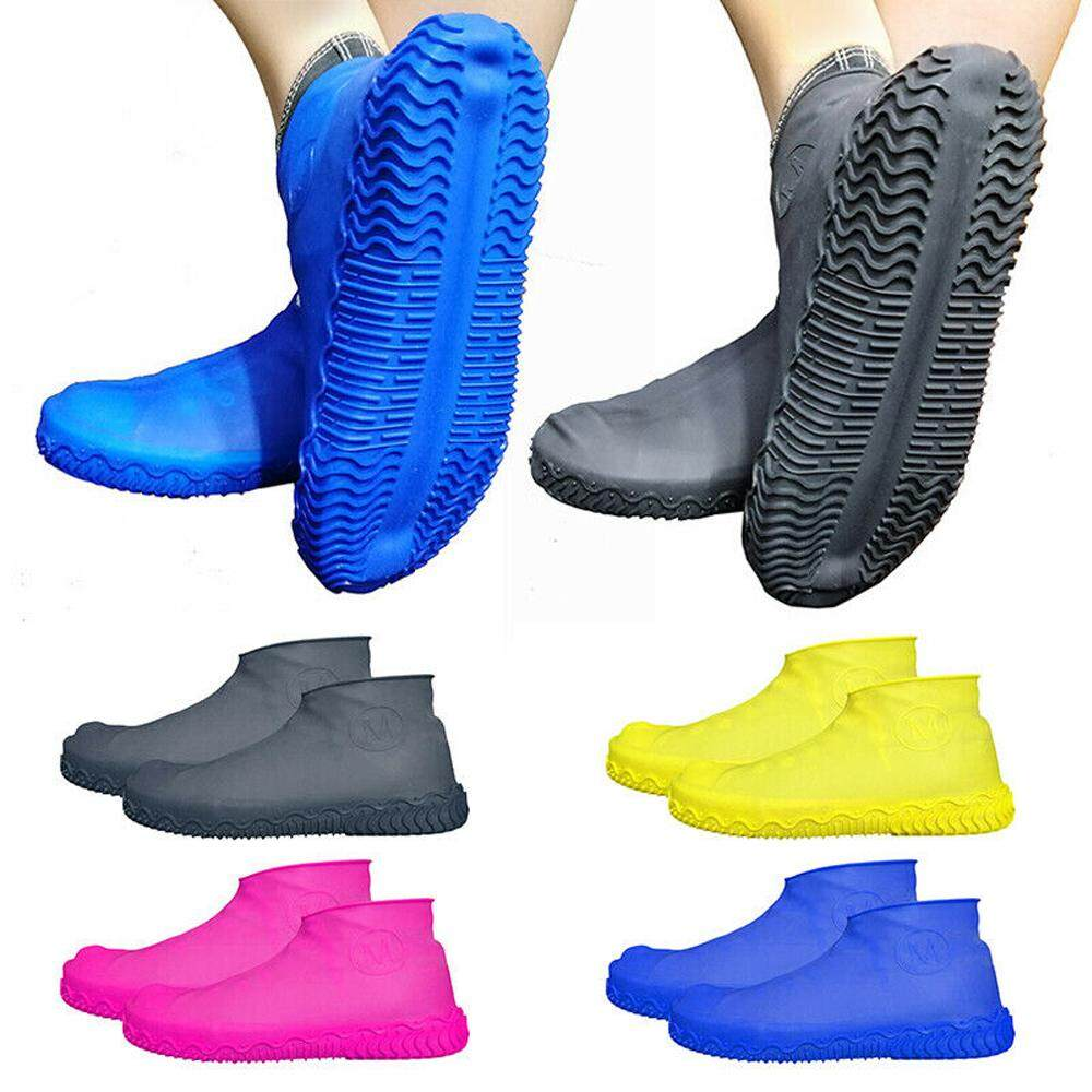 1 Pair Rubber Reusable Latex Waterproof Rain Shoes Covers Shoes Accessories