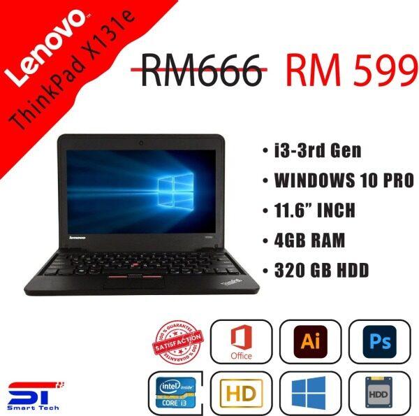 "🔥 LAPTOP MURAH 🔥 Lenovo ThinkPad X131e - Core i3-3rd Gen 4GB | 320GB RAM | HDD) - 11.6"" INCH | Best for Online Studies Malaysia"