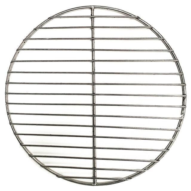 Q Lưới Nướng Tại Nhà, Dụng Cụ Nướng Thịt Xông Khói Lưới Sắt Hình Tròn 304 Bằng Thép Không Gỉ Chống Dính Phụ Kiện Nướng Thịt