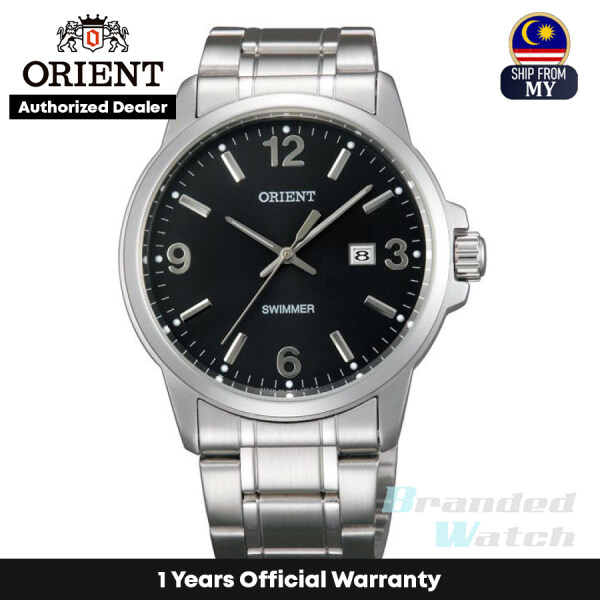 [Official Warranty] Orient SUNE5005B Mens Analog Quartz Swimmer Black Dial Stainless Steel Strap Watch (watch for men / jam tangan lelaki / orient watch for men / men watch) Malaysia