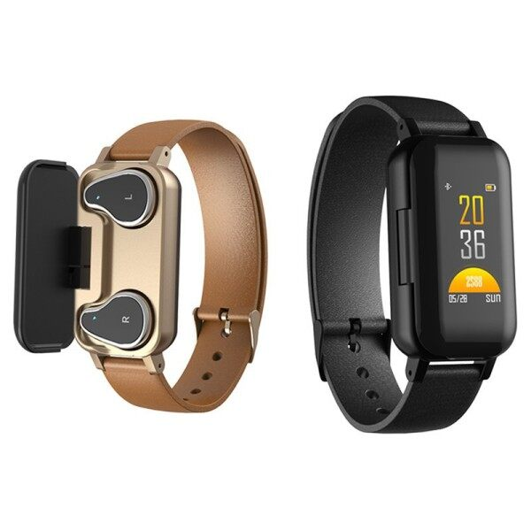 T89 Tws Smart 2 In 1 Bluetooth Earphone Headphone Fitness Smart Watch Ip67 Waterproof Heart Rate Sport Monitor Malaysia
