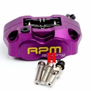 Bộ Kẹp Phanh RPM Xe Máy Với Bơm ĐĨA PHANH 200Mm Bộ Phận Xuyên Tâm 4 Pít-tông 82Mm Cho Xe Yamaha Kawasaki Sửa Đổi Xe Tay Ga thumbnail