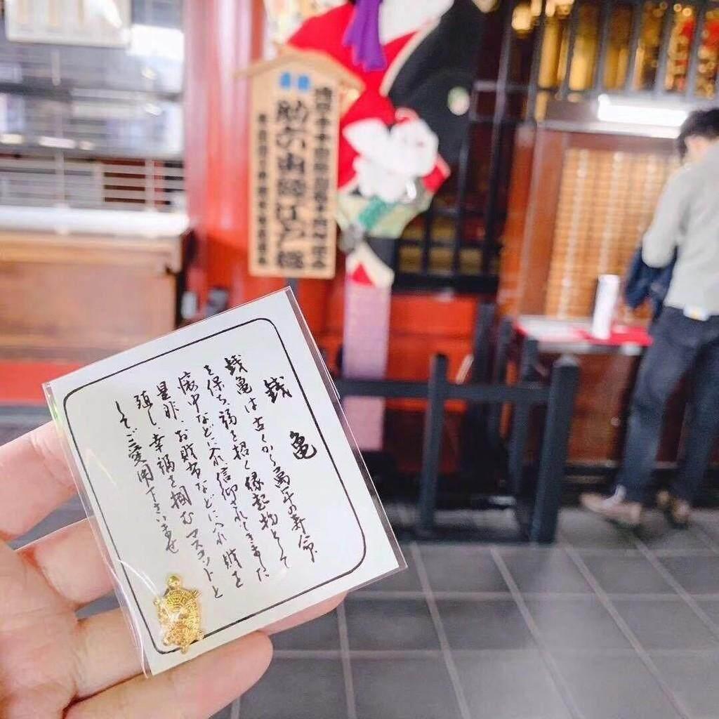 0fc3f6e8121a *Ready Stock* 开光仪式日本金钱龟Lucky Gold Turtle Japan Sensoji Temple Golden  Tortoise