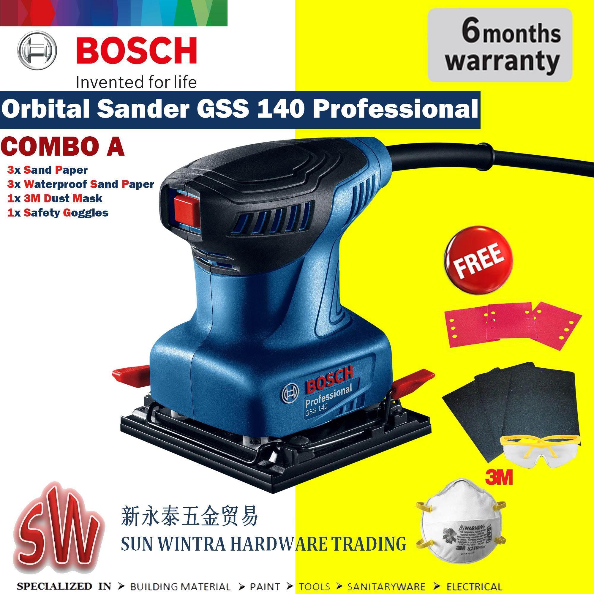 BOSCH GSS140 Orbital Sander F.O.C 3M Product,Sand Paper