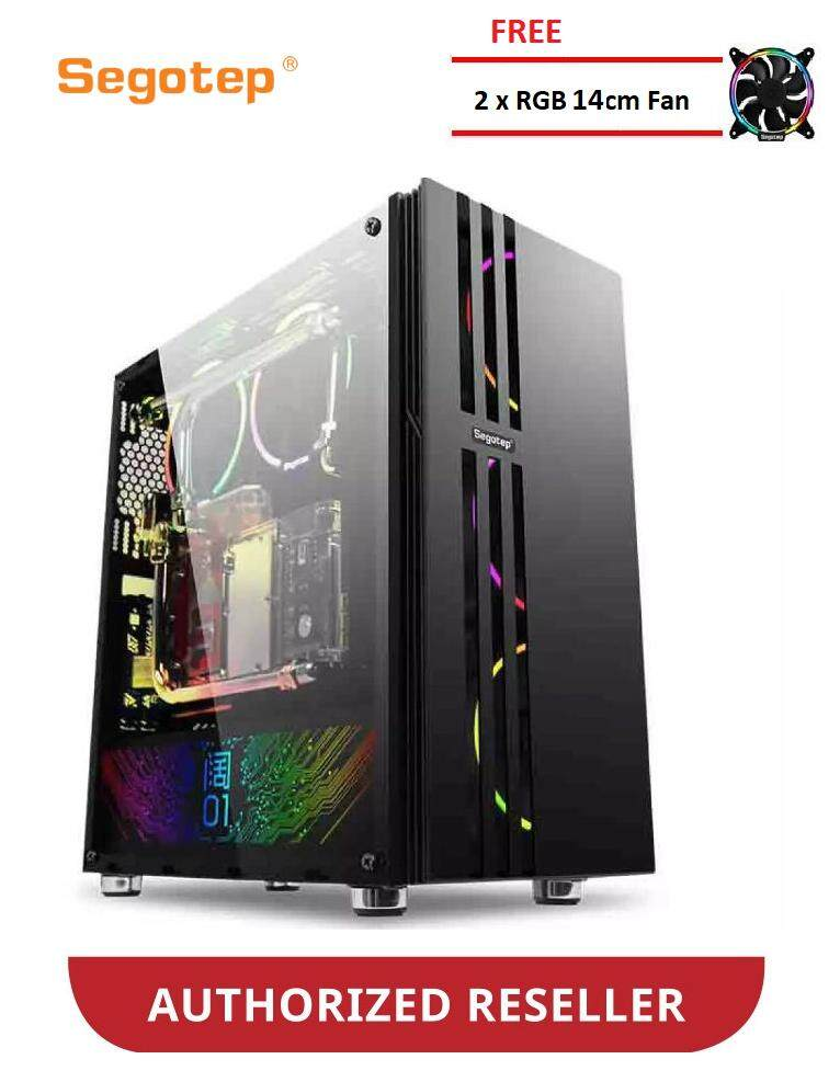 Segotep Fenix 01 RGB Tempered glass ATX gaming casing (FREE 2X RGB FAN) Malaysia