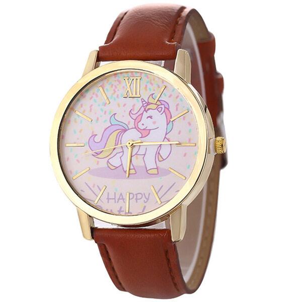 Unicorn Watch Fashion Cute Unicorn Cartoon Girl Boy Child Quartz Watch Waterproof SportS Leather Watch Women Baby Malaysia