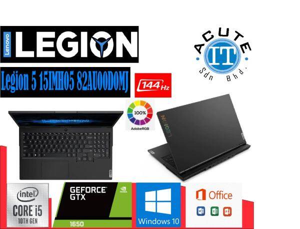 Lenovo Legion 5 15IMH05 82AU00D0MJ 15.6 FHD 144Hz Gaming Laptop Malaysia