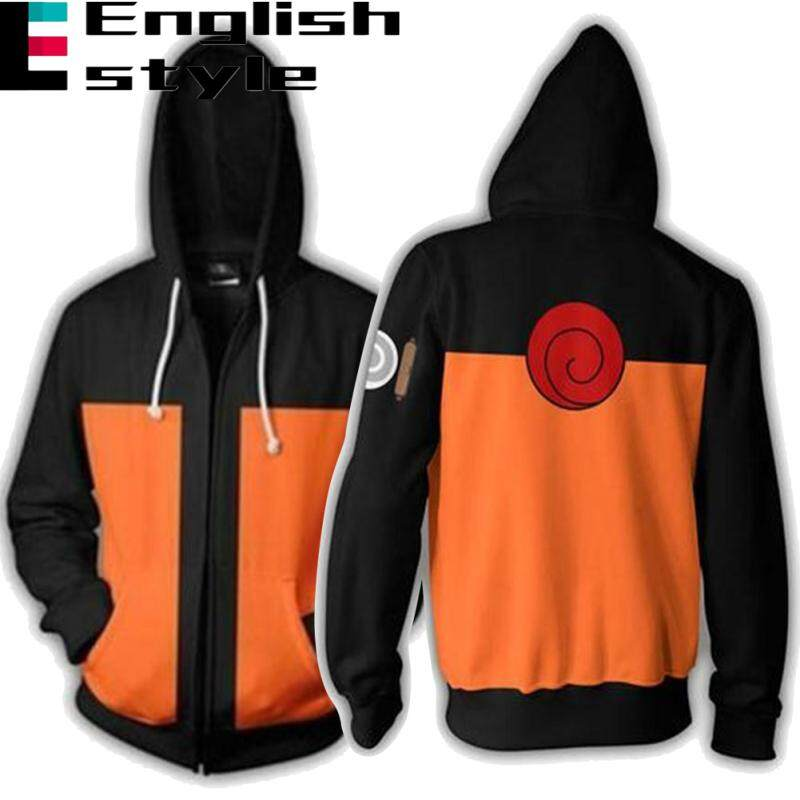 e3ef824455977 Naruto Zipper Hoodies Men Long Sleeve Sweatshirt Fashion Tops Couples  Cartoon 3D Digital Printing Hooded Pullover