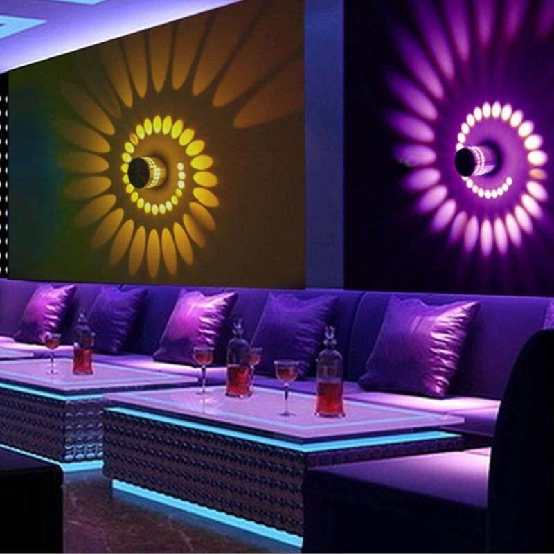 Đèn tường LED lỗ xoắn ốc RGB Đèn tường hiệu ứng với bộ điều khiển từ xa Đèn ngủ nhiều màu sắc Dành cho quán bar tiệc tùng Trang trí nhà KTV sảnh