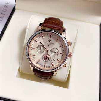 Original_Patek Philippe นาฬิกาเต็มรูปแบบนาฬิกาควอตซ์หรูหราผู้ชายนาฬิกากีฬาแฟชั่นสุภาพสตรีนาฬิกากันน้ำ