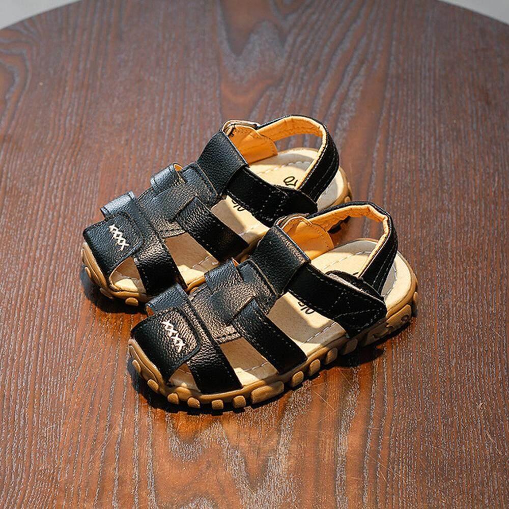 ❤️Cutiebaby Mới Thời Trang Mùa Hè Trẻ Em Kid Thời Trang Bé Trai Khoác Màu chống trơn trượt Giày Sandal Giày Đi Biển