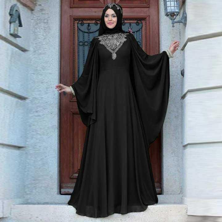 Wanita Gaun Maxi Baju Raya Busana Muslim Jubah Muslimah