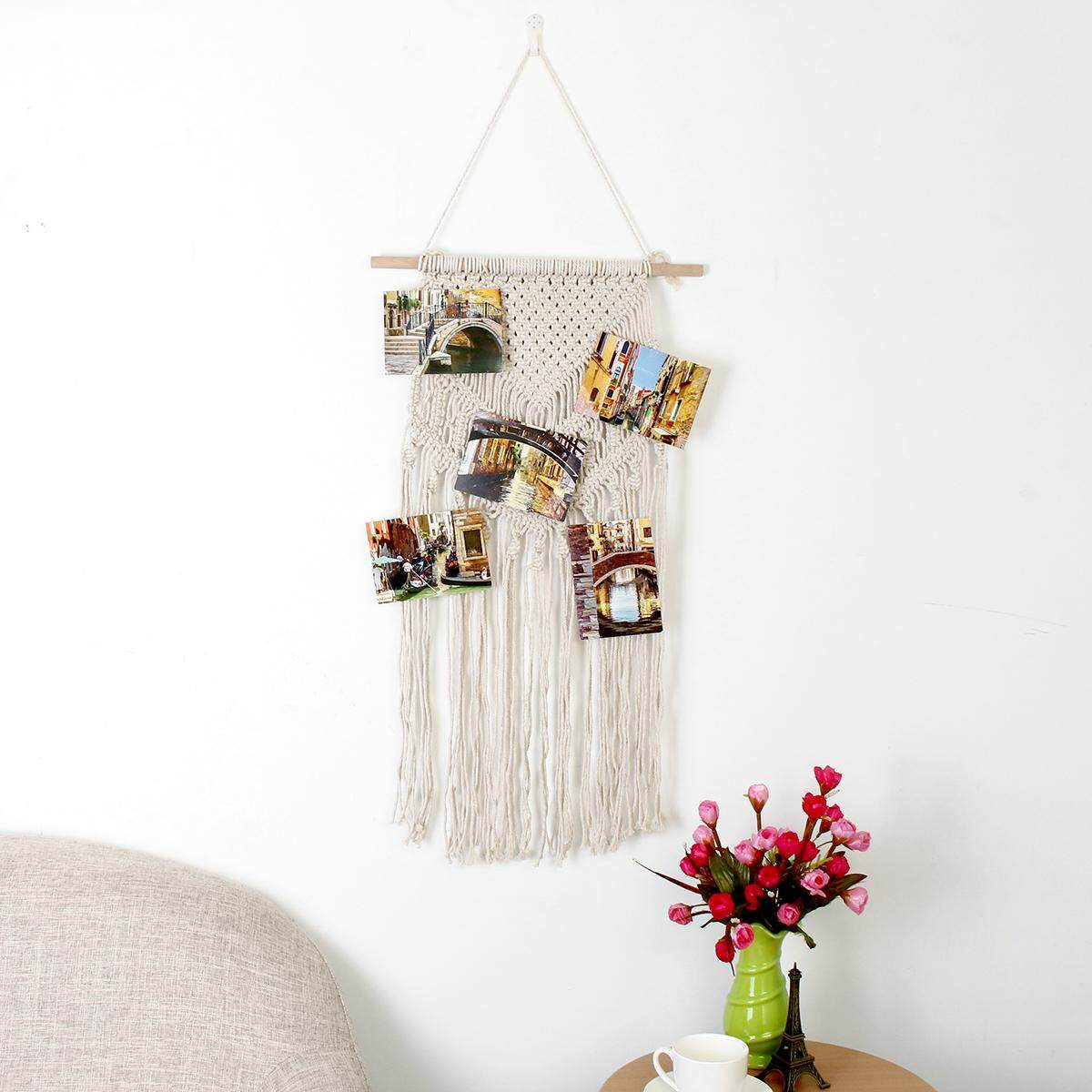 Handcraft Cotton Tassel Macrame Wall Hanging Tapestry Home Decorative 40*100cm