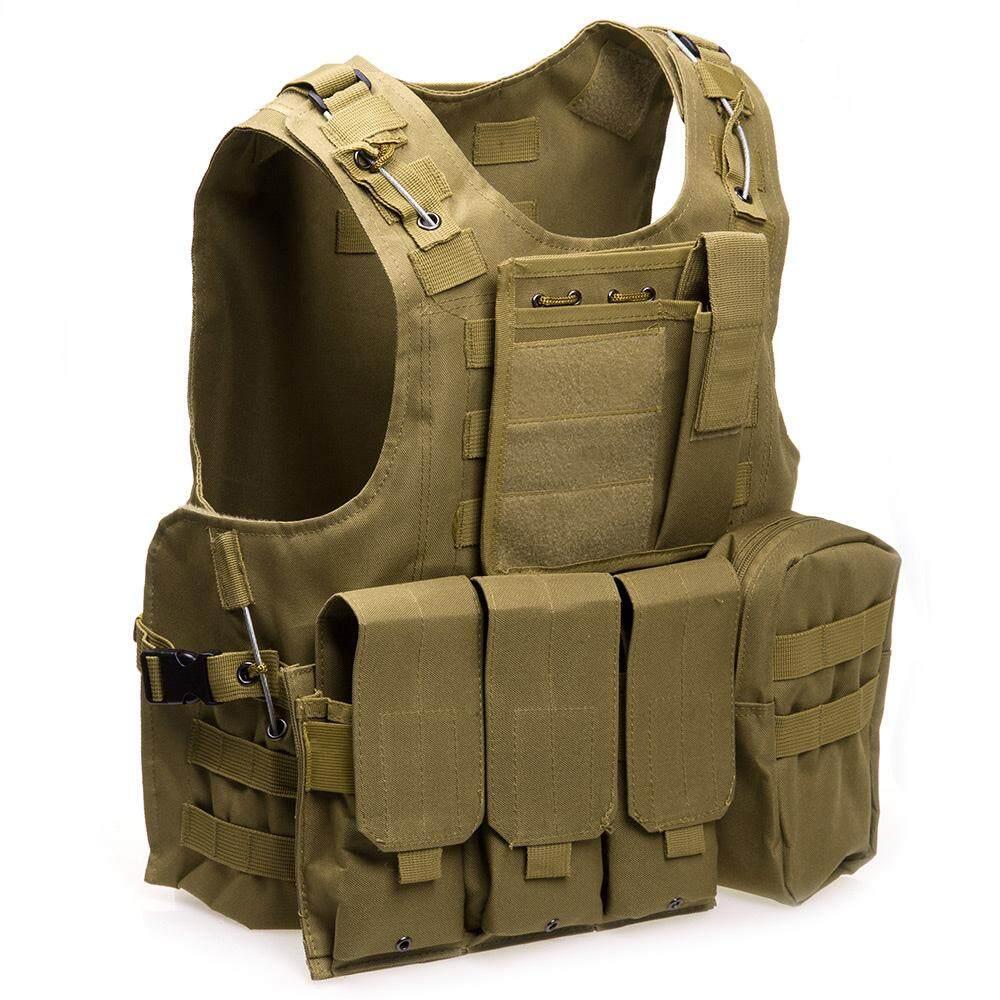 Tactical Vest Military Swat Field Battle Molle Combat Assault Plate Carrier Vest  Hunting Vest Camouflage Black