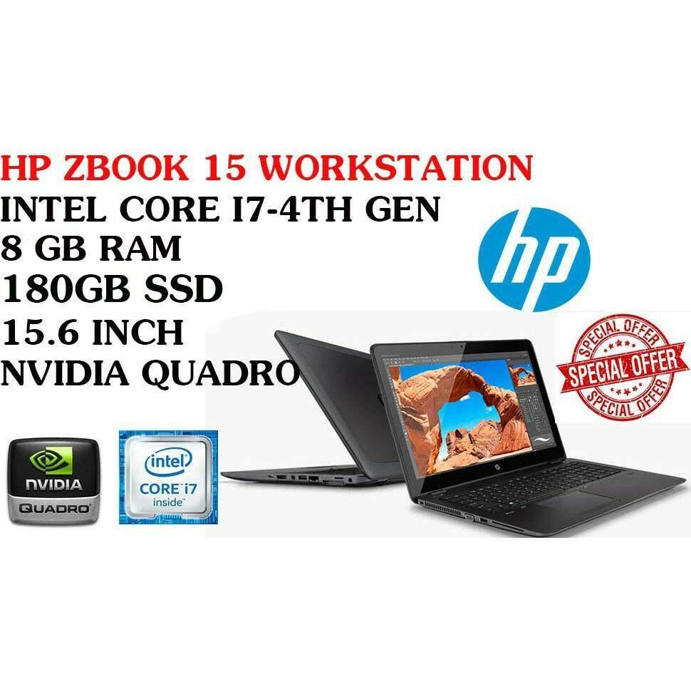 Workstation HP ZBOOK 15 G1 i7-4TH GEN ,8GB RAM,180GB SSD, 15.6 inch 2GB NVIDIA QUADRO Malaysia
