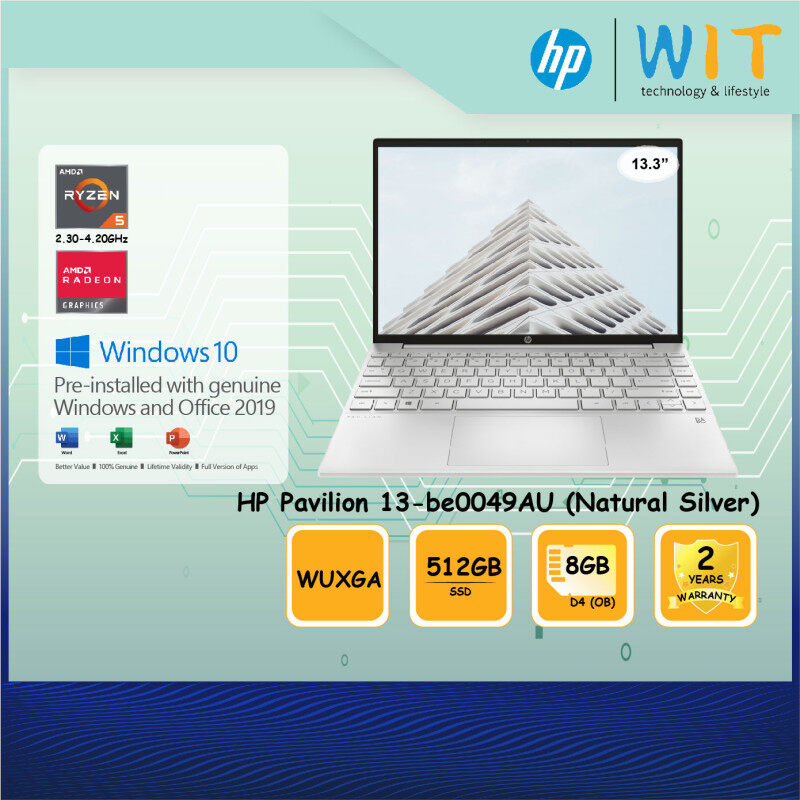 HP Laptop Pavilion Aero 13-be0047AU / 13-be0048AU / 13-be0049AU /AMD Ryzen 5-5600U 2.30~4.20Ghz/8GB D4(OB)/512GB SSD/13.3WUXGA/AMD Radeon Malaysia