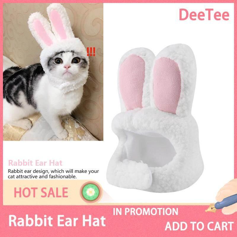 Deetee Professional หมวกหูกระต่ายน่ารักเครื่องแต่งกายสัตว์เลี้ยงคอสเพลย์หมวกรูปแมวอุปกรณ์เสริม By Deetee Shop.