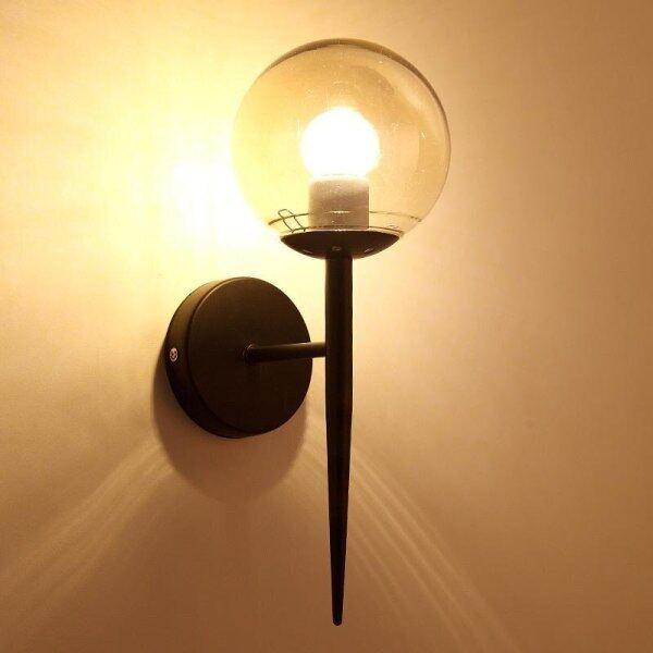 Phong Cách Hiện Đại E27 Đèn LED Treo Tường Bắc Âu Bi Thủy Tinh Đèn Tường Đối Passage Hành Lang Đèn Đầu Giường Phòng Ngủ Chân Đèn Treo Tường AC85-265V