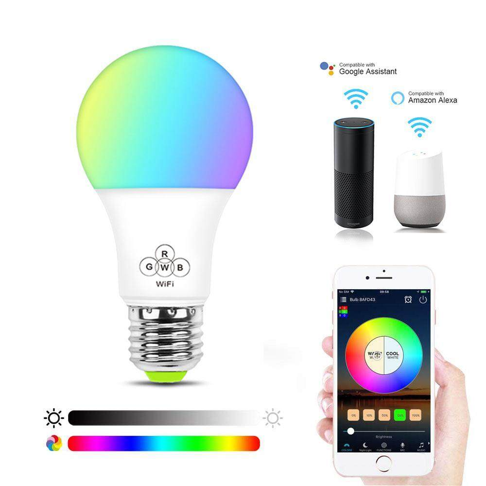 OrzBuy MagicLight WiFi Smart Light Bulb, Dimmable, Multicolor, Wake-Up Lights, No Hub Required, Magic Light Compatible with Alexa and Google Assistant