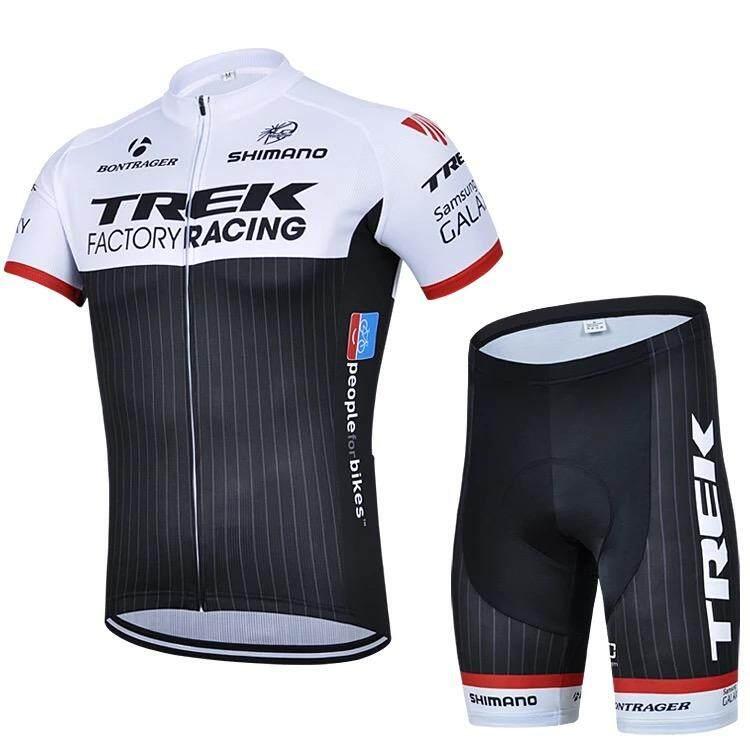 a2c99721b0d 2 Pcs Trek Long sleeve Short sleeve Summer Cycling Jerseys Men's Cycling  Wear Bike Jersey Team
