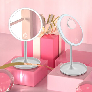 Lighted Makeup Mirror, Vanity Mirror, Cosmetic Mirror with Stand, Detachable Portable 5X Magnification Mirror thumbnail
