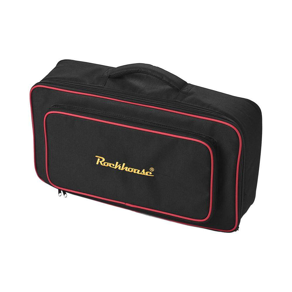 Portable Handheld Gig Bag Abrasion Proof Thicken Fabric Pedalboard Carry Bag Large   Size Guitar Pedal Board Case Guitar Accessories