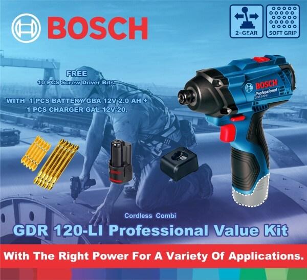 BOSCH Cordless Impact Driver / Wrench GDR 120-LI Professional Set