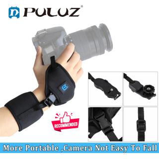 Tay Nắm Có Dây Đeo Cổ Tay Cao Su Tổng Hợp Mềm PULUZ Cho Máy Ảnh DSLR DSLR Canon Nikon Sony FujiFilm Olympus Panasonic Với Đĩa Nhựa Vít 1 4 Inch thumbnail