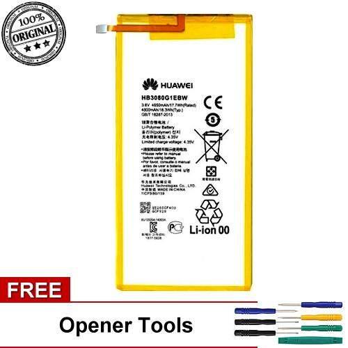Original Battery Huawei HB3080G1EBW Huawei MediaPad M2 8 0 M2-801L Battery  (Free Opener Tool)