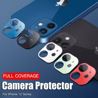 Ống Kính Máy Ảnh Màu Gốc Kính Cường Lực, Dành Cho IPhone 12 11 Pro Max 12 Mini Vòng Camera Bọc Kín Miếng Dán Bảo Vệ Trên iPhone 12 thumbnail