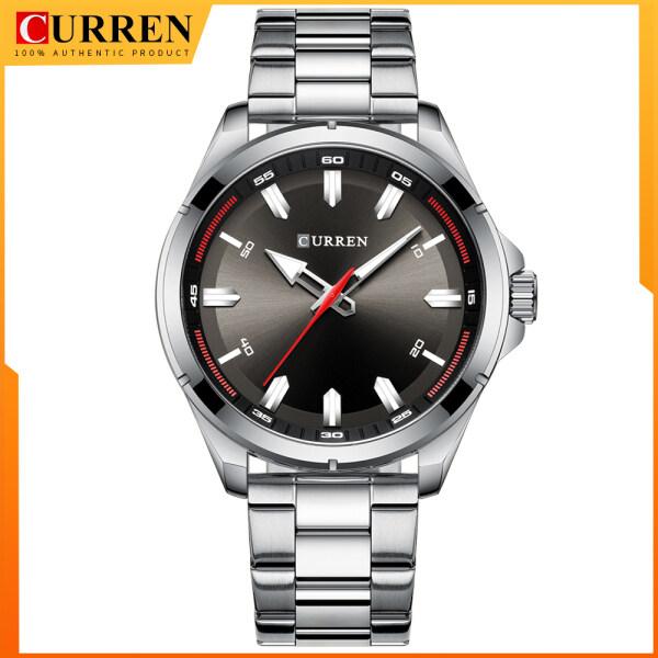 Luxury Brand CURREN Watches Mens Quartz Business Wristwatch Fashion Clock Classic Steel Band Watch Malaysia