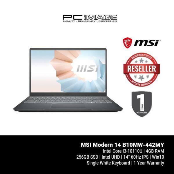 MSI Modern 14 B10MW-442MY 14 Laptop - Carbon Grey (i3-10110U, 4GB, 256GB, Intel, Win10) Malaysia
