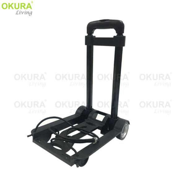 OKURA Multi-Functional 40KG Folding Handcart Adjustable Foldable Trolley Light Weight With Wheel Hand Truck Cart