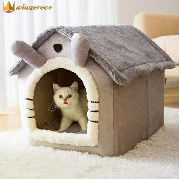 Con Chó Nhà Kennel Mềm Mại Giường Vật Nuôi, Mèo Nhỏ Lều, Ổ Ngủ Nửa Kín