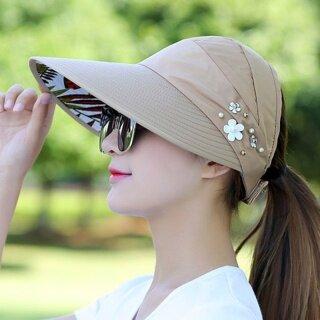 HengSong Mũ Chống Nắng Thời Trang Thoải Mái Du Lịch Ngoài Trời, Mũ Chống Nắng Chống Tia UV Có Thể Gập Lại thumbnail