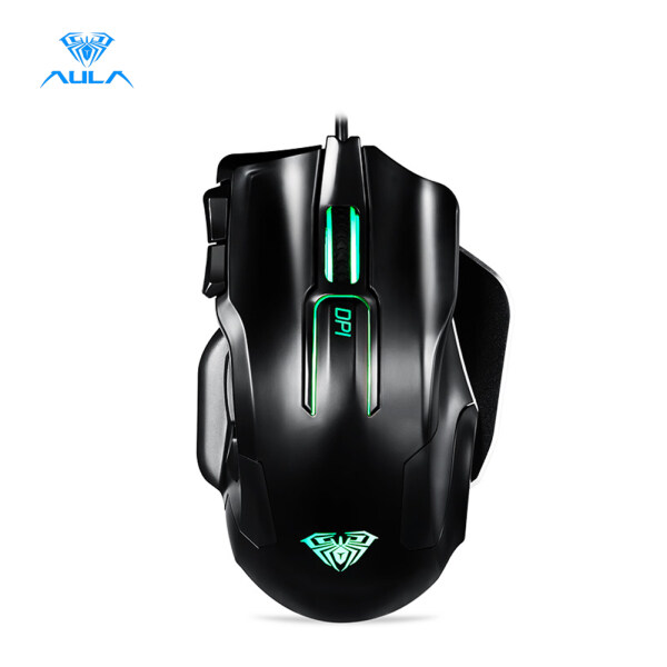 AULA 9006 Wired Professional Gaming Mouse Death Coil 10-Key Programmable 8200DPI Mouse for Computer Singapore
