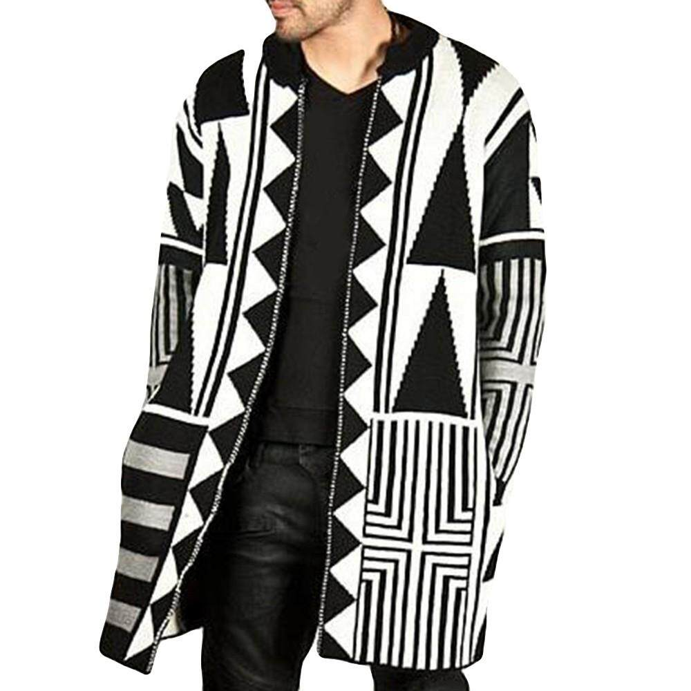 Kohlershop Mens Autumn Winter Fashion Trend Personality Black White Grey Stitching Coat Free Shipping By Kohlershop.