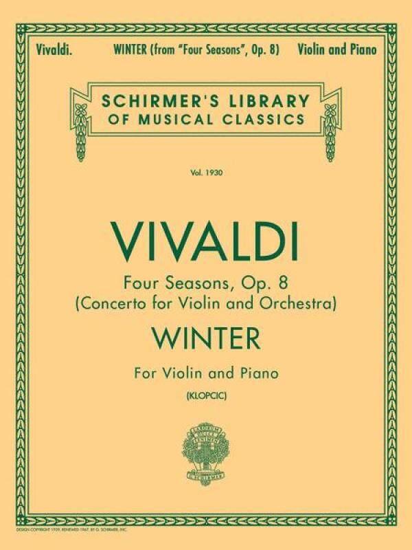 Schirmer Library of Classics Volume 1930 Schirmer Library of Classics Volume 1930 Violin and Piano  By Antonio Vivaldi Malaysia