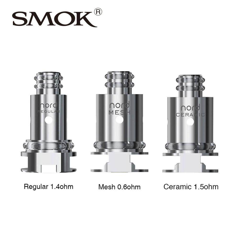 ET Original 5pcs SMOK Nord Replacement Coil with Regular 1.4ohm Coil and 0.6ohm Mesh Coil for SMOK Nord KIt