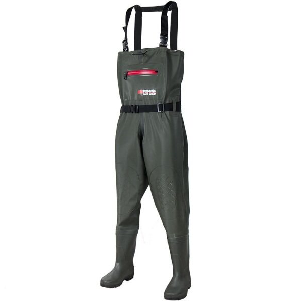 Bootfoot Chest Waders Waterproof 2-Ply Nylon/PVC Multi-purpose Fly Fishing Hunting Waders Pants for Men and Women