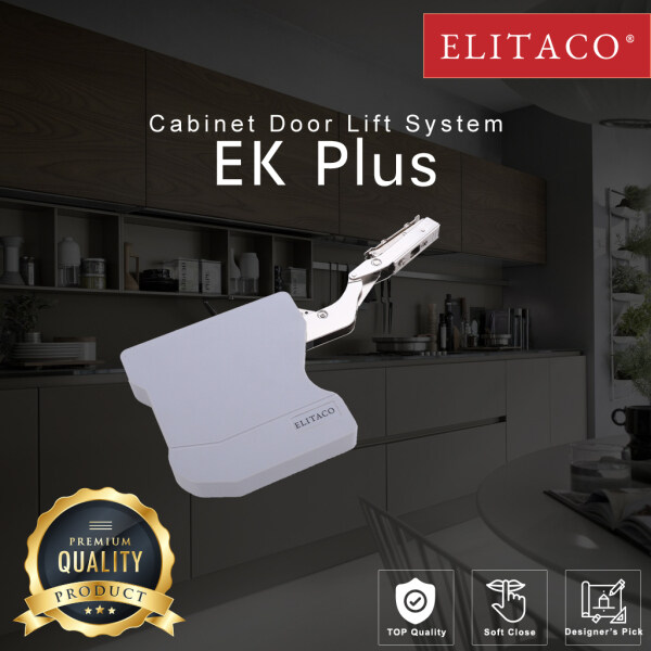 【ELITACO】EK Plus Hydraulic Lid Stay kitchen Cabinet Storage Door Soft Close Gas Spring Hardware silent DIY Furniture
