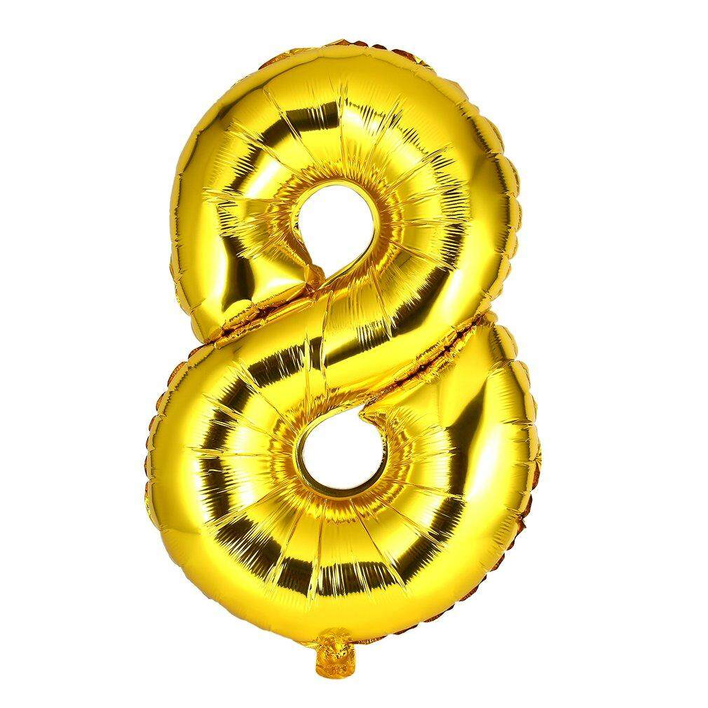 Top Sell 30 Inch Foil Mylar Balloons for Wall Decoration Number Digit Foil Balloons