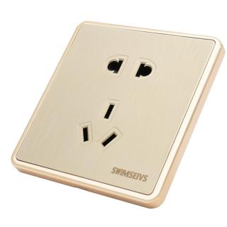 Ổ cắm điện đơn loại năm lỗ chất liệu vỏ PV chống cháy an toàn cho gia đình - INTL thumbnail