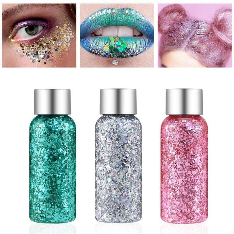 Buy 3 Packs Holographic Glitter Sequin Face Eyes Lips Body Hair Nail Art Makeup Accessory for Halloween Christmas Party Singapore