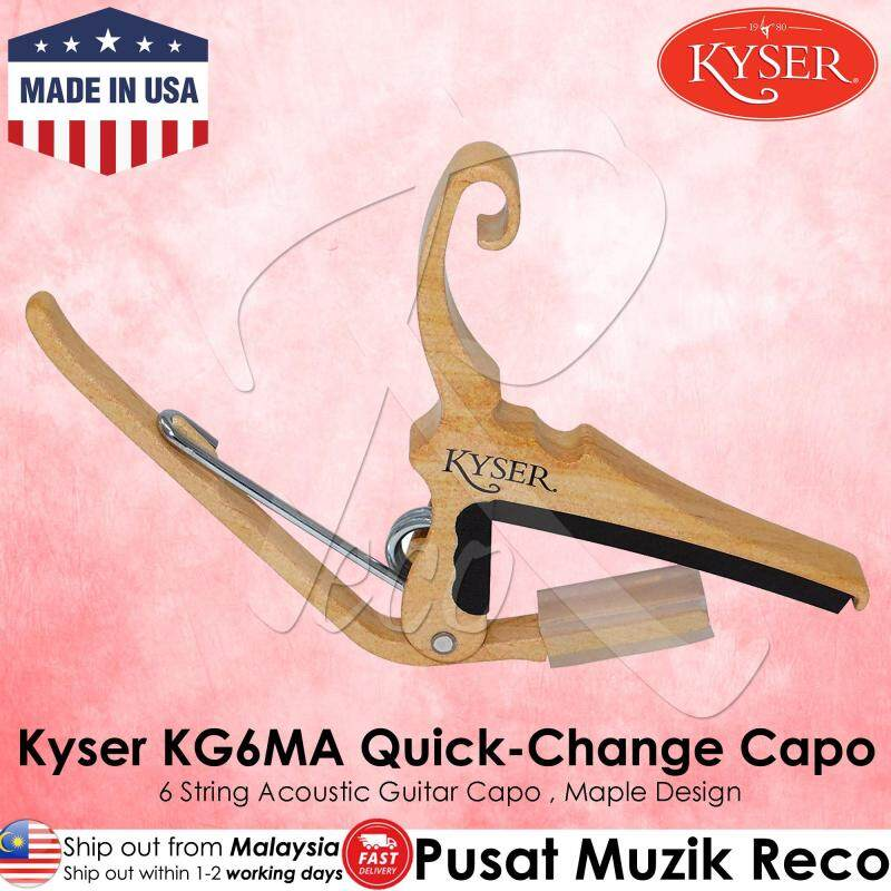 Kyser KG6BA KG6RWA KG6MA KG6GA Quick Change Acoustic Guitar Capo Black / Rosewood / Maple / Gold [Made in USA] Malaysia