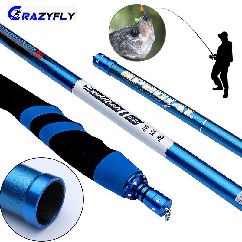 Crazyfly FRP Fishing Rod Wear Resistant Telescopic Ultralight Fishing Pole  for Stream Freshwater