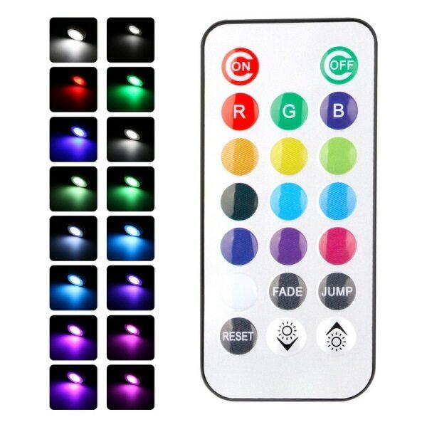 Bảng giá WAKYME 4 Đèn LED Dưới Tủ RGB Thay Đổi Độ Sáng Đèn Tường Đèn Ngủ Nhà Bếp Tủ Quần Áo Tủ Chén Với Điều Khiển Từ Xa