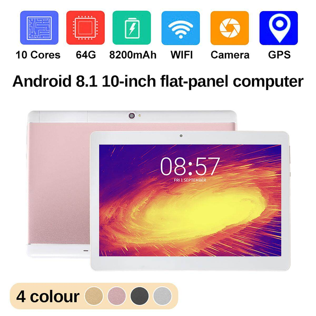 NEW  10 Tablet PC Android 8.1 Octa 10Core 64GB 2Ghz 10 Inch HD WIFI 2SIM 4G Phablet Malaysia
