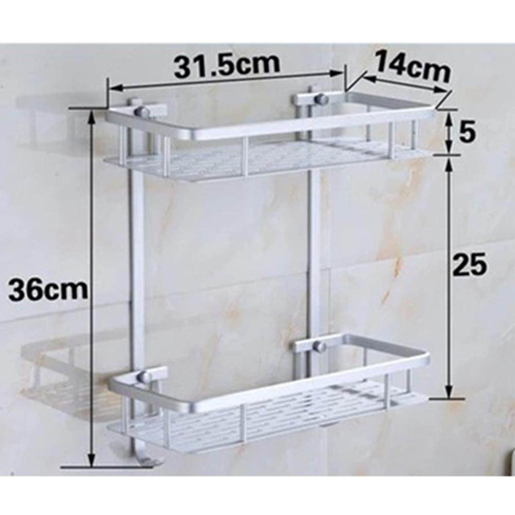 Bathroom Hardware Aluminium Storage Rack Bathroom Shower Bath Holder For Shampoos Shower Gel Kitchen Home Balcony Shelf Hanging Rack Hook