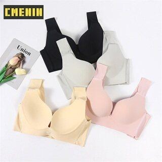 CMENIN Cotton áo ngực cotton thoải mái cho phụ nữ mỏng kiểu Pháp bralette gợi cảm sâu V tam giác không dây Push Up liền mạch dây áo ngực miễn phí B0157 thumbnail